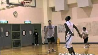 Hasheem & Yao on the court together (July 2010)