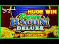 AWESOME NEW GAME! Rakin' Bacon Deluxe Golden Blessings Slot - HUGE WIN SESSION!