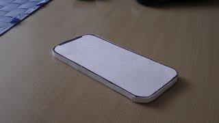 Как сделать модель iPhone XR из бумаги. Paper IPhone X