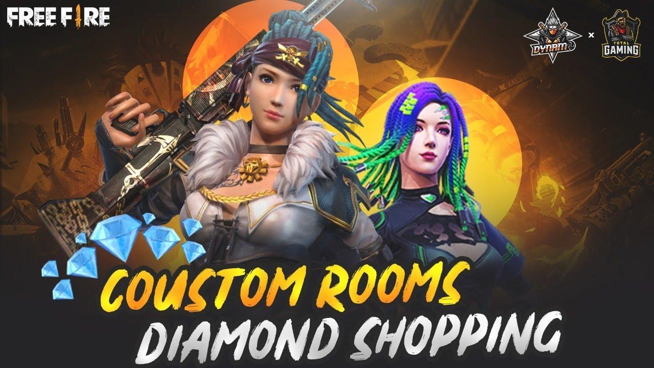 Free Fire Live Diamond Shopping + Custom Room - Total Gaming x Dynamo Gaming Collab