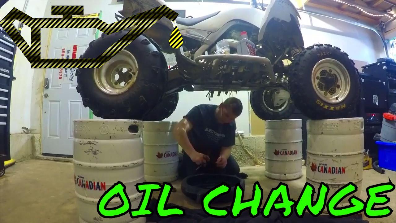 HOW TO CHANGE OIL ON FOUR STROKE ATV YAMAHA RAPTOR 700: Enduro Skills