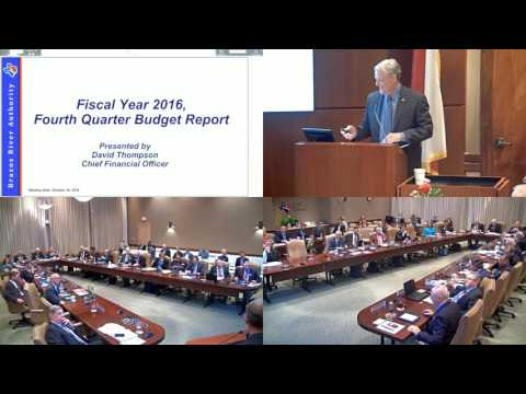 Brazos River Authority Board of Directors October 2016 Meeting