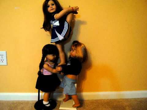 Excellent American Girl Doll Cheerleading Stunts - YouTube WK63
