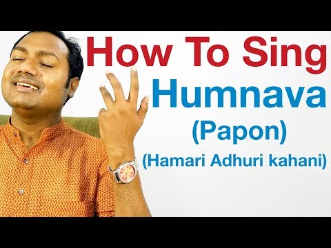 Aye Humnava - Singing Lesson - Papon