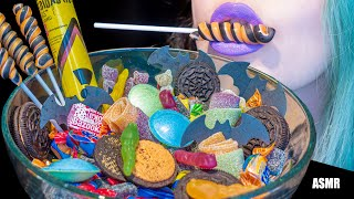 ASMR: LOLLIPOP, OREO, FLYING SAUCERS, SOUR, SPICY | Halloween Candy Bowl 🎃 ~ [No Talking|V] 😻