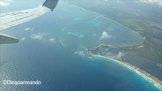 Impresionante aproximación y aterrizaje en Cancun México - Boeing 737-800 Aeromexico.