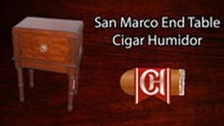 The San Marco End Table Cigar Humidor