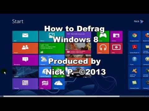 How to Defrag Windows 8 - How To Defrag Your Hard Drive Easily