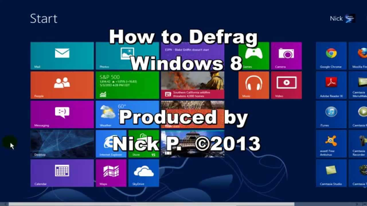 how to defrag windows 8 laptop