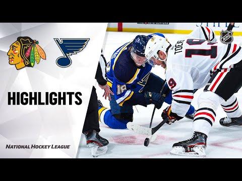 NHL Highlights | Blackhawks @ Blues 2/25/20