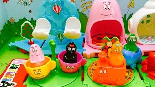 BARBAPAPA PLAYLAND Amusment Park Toy Opening!