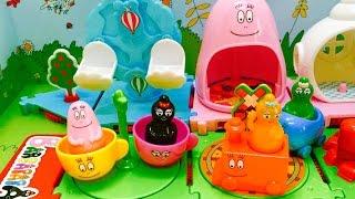BARBAPAPA PLAYLAND Amusment Park Toy Opening!