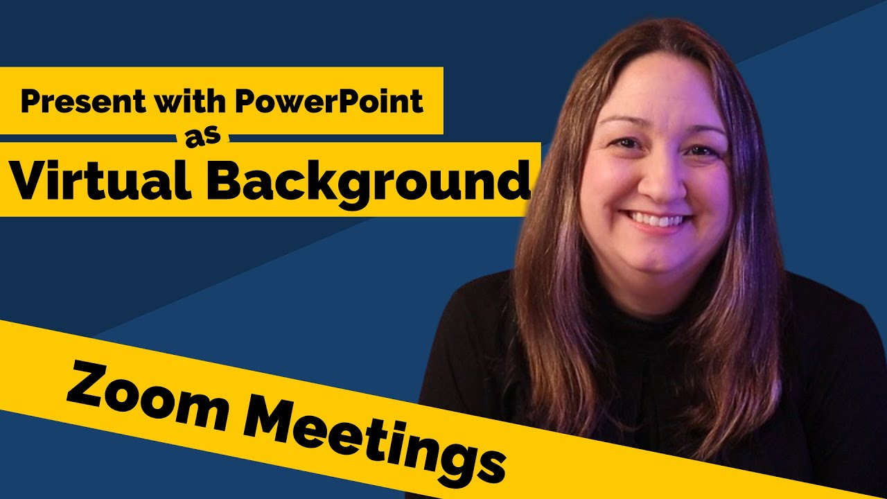 Present With Powerpoint As Virtual Background In Zoom Meeting Youtube