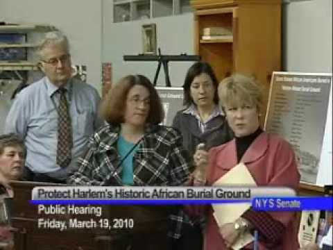 NY Senate Public Hearing- Protecting Harlem's African Burial Grounds- 031910