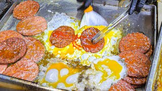 Most EXTREME Street Food in Asia - The MOST SLOPPY Street Burger in THE WORLD w/ BUTTER EGGS!!!