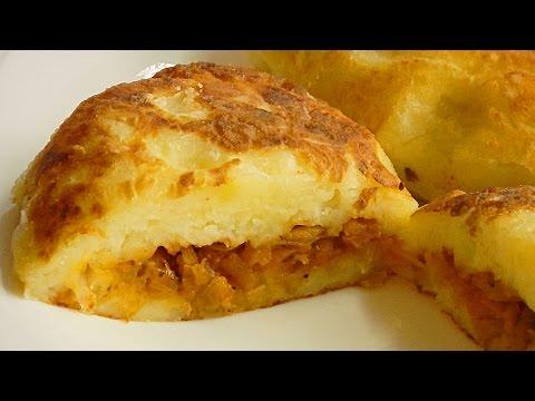Картофельные зразы с грибами и сыром рецепт с пошаговыми