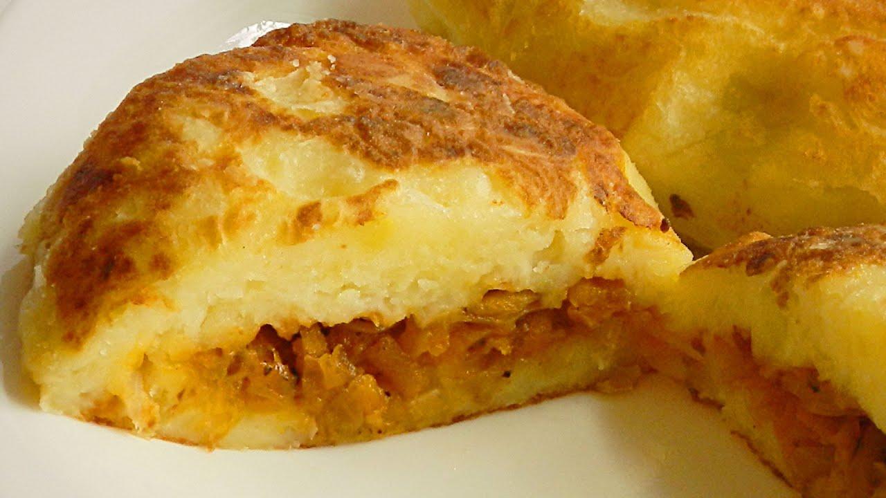Нежные Картофельные Зразы с Капустой кулинарный видео рецепт