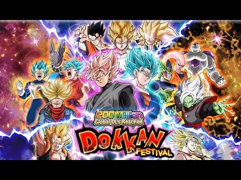 LIVE SUMMONS ON 200 MILLION DOWNLOADS TICKET BANNER!!!!!! (Dragon Ball Z: Dokkan Battle)