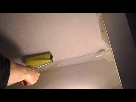 █ Как клеить обои на потолок, все нюансы, (ремонт в квартире).