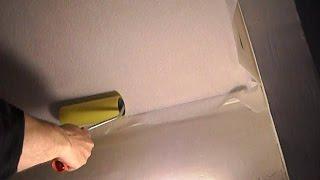 █ Как клеить обои на потолок, все нюансы, (ремонт в квартире).(Как клеить обои правильно, все нюансы, (ремонт в квартире). Большая просьба к Вам, после просмотра видео..., 2014-07-17T14:53:31.000Z)