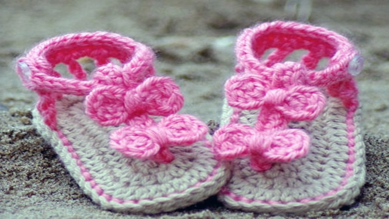 Crochet Baby Shoes Booties And Sandals Youtube
