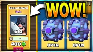 MASSIVE EXECUTIONER CHEST OPENING!! Biggest Super Magical Chest Fail Ever!? Clash Royale Gemming
