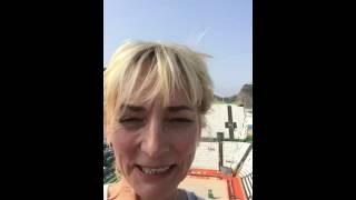 Rio 2016 – Heike Drechsler hat Spaß beim Beachvolleyball