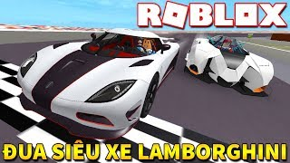 Roblox | RACING WITH VAMY DUDES DRIVING LAMBORGHINI-Vehicle Simulator | KiA Pham