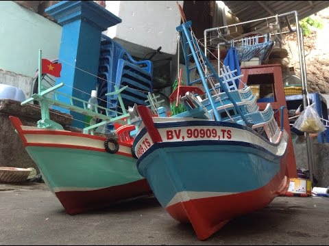 Mô hình tàu cá lưới kéo VŨNG TÀU