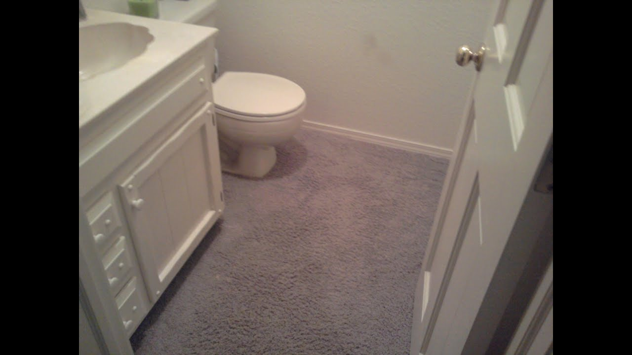 Carpet in the Bathroom Part 1 YouTube