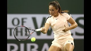 2018 Indian Wells Fourth Round | Daria Kasatkina vs. Caroline Wozniacki | WTA Highlights