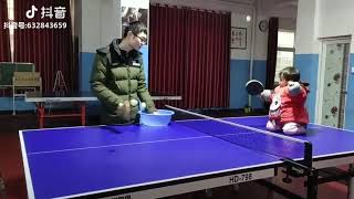 This is how a future ping pong champion from China is born. 🏓