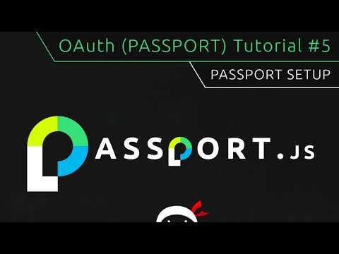 OAuth (Passport.js) Tutorial #5 - Pasport Initial Setup thumbnail