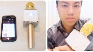Q7 Bluetooth Microphone UNBOX & REVIEW - Karaoke Mic With Speaker