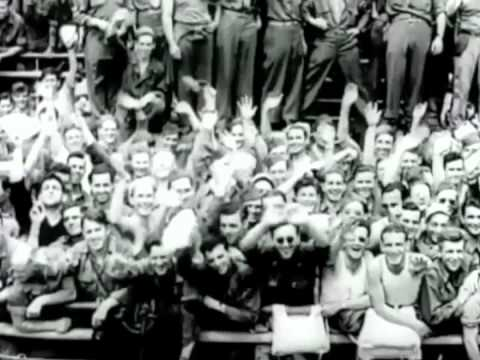 End of World War II Archive footage.