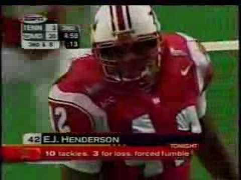 EJ Henderson in 2002 Peach Bowl