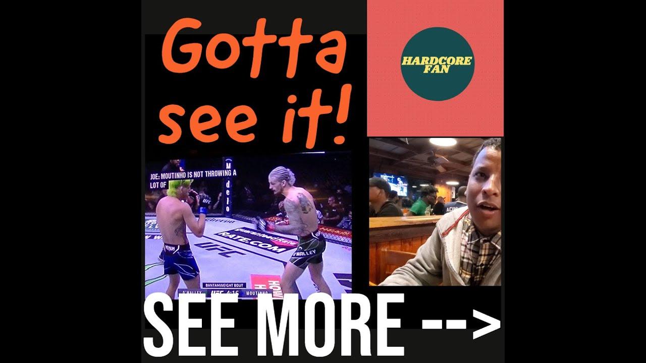 UFC 264: Sean O'Malley v Kris Moutinho   UFC Reaction   MMA Fighting