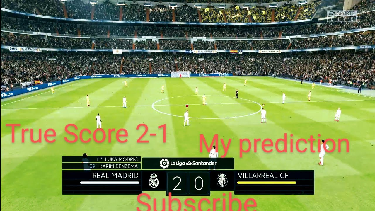 Real Madrid vs Villarreal | LaLiga - Matchday 37 | My prediction | Full HD  Gameplay