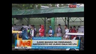 BT: Ilang bahagi ng Mindanao, naperwisyo ng ulang dala ng LPA