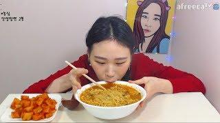 안성탕면 라면 먹방 Mukbang eating show 180215