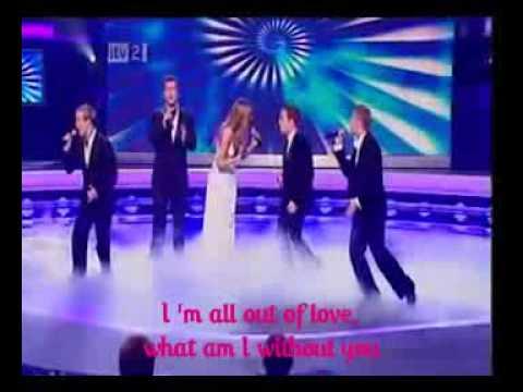 Westlife Feat Delta Goodrem - All Out Of Love (lyrics)