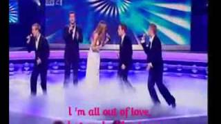 Westlife Feat Delta Goodrem - All Out Of Love (lyrics)