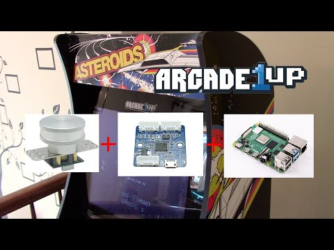 Arcade1up Asteroids Mod | GRS Spinner from Holly