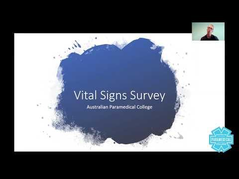 Paramedics Course Vital Signs Survey Australian Paramedical College