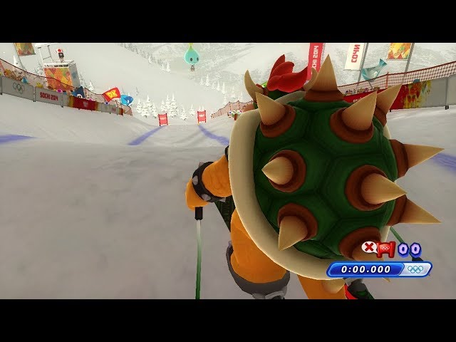 Mario and Sonic at the Sochi 2014 Olympic Winter Games - Alpine Skiing Downhill (All Characters)