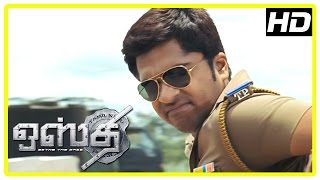 Osthi Tamil Movie Scenes | Simbu Intro As Police Fighting Goons And Retriving Cash | Sonu Sood
