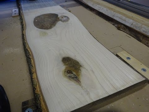 How to Clean Wood: CNC Routing Tulip Live Edge Slab