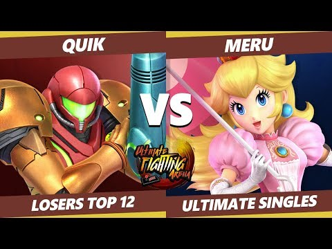UFA 2019 SSBU - myR | quiK (Samus) Vs. Meru (Peach) Smash Ultimate Tournament Losers Round of 12