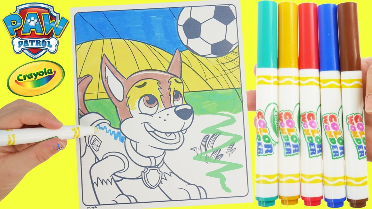 Paw Patrol Chase Color And Play Club House Paint 3D Disney Junior Animated Magic Coloring Book