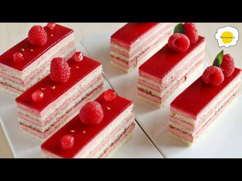 Raspberry cake 覆盆子蛋糕 Gâteau aux framboises Himbeerkuchen Pastel de frambuesa ラズベリーケーキ كعكة التوت 红树莓